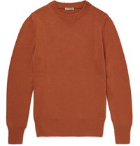 Bottega Veneta Slim Fit Cashmere Sweater Orange