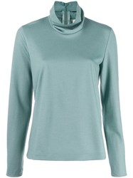 Forte Forte Turtleneck Top Blue