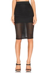 Rise Parallel Lines Skirt Black