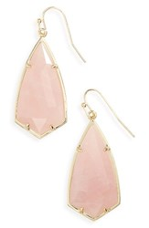 Kendra Scott Women's Carla Semiprecious Stone Drop Earrings Rose Quartz Gold