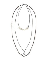 Lydell Nyc Long Embellished Multi Strand Necklace