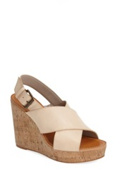 Hinge Wedge Sandal Women Beige