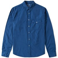 Save Khaki Chambray Work Shirt Blue