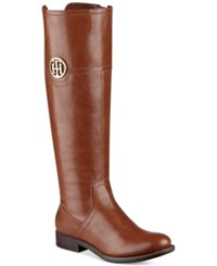 Tommy Hilfiger Silvana Wide Calf Riding Boots Women's Shoes Tan