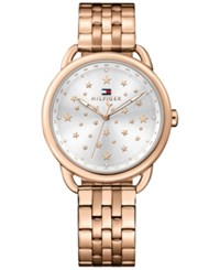 Tommy Hilfiger Women's Casual Sport Rose Gold Tone Stainless Steel Bracelet Watch 36Mm 1781738
