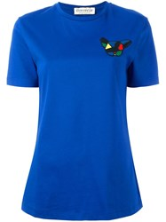 Etre Cecile Small Dog Badge T Shirt Blue