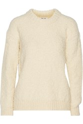 Mih Jeans Bird Knitted Sweater White