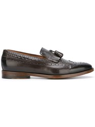 Doucal's Woven Loafers Men Calf Leather Leather 42.5 Brown