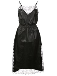 Fleur Du Mal Rose Laced Dress Black