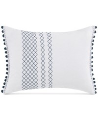 Ed Ellen Degeneres Hanako Diamond Stitched Knot Throw Decorative Pillow Bedding White