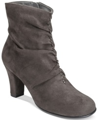 Aerosoles Good Role Slouchy Booties Women's Shoes Grey Fabric