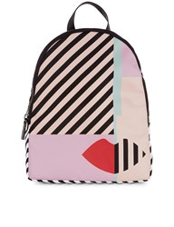Lulu Guinness Multi Anna Doll Face Backpack Pink