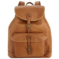 Polo Ralph Lauren Leather Backpack Cognac