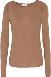 Bailey 44 Cruising Cutout Merino Wool Sweater Tan