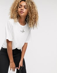 Cheap Monday Perfect T Shirt With Text Logo White