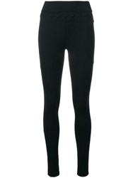 No Ka' Oi Scalloped Details Sports Leggings Black