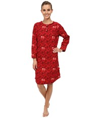 Woolrich 300 Park Flannel Printed Nightshirt Old Red Sheep Women's Clothing