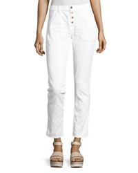 Ba And Sh Cmarc High Rise Pants White