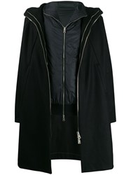 Andrea Ya'aqov Layered Hooded Coat Black