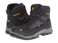 Caterpillar Compressor 6 Waterproof Composite Toe Black Men's Work Boots