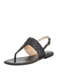Karl Lagerfeld Mildred Low Quilted Sandal Black