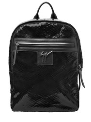 Giuseppe Zanotti Laser Cut Patent Leather Backpack