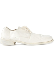 Guidi Distressed Lace Up Shoes White