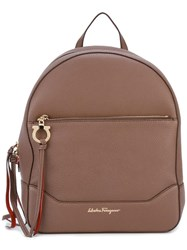 Salvatore Ferragamo Samy Backpack Brown