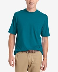 Izod Solid Double Layer Jersey Pocket T Shirt Bluejay