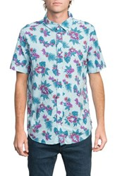 Rvca Mcmillan Floral Woven Shirt Blue Floral