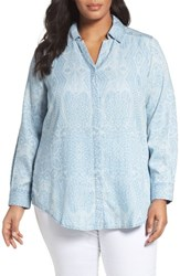 Foxcroft Plus Size Women's Paisley Tencel Shirt