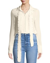 Stylekeepers Dash Duty Chiffon Button Front Blouse Ivory