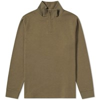 A.P.C. Jerry 1 4 Zip Sweat Green