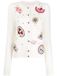 Tory Burch Embroidered Fine Knit Cardigan 60