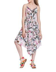 Plenty By Tracy Reese Floral Print Asymmetric Dress Multicolor