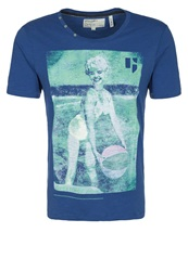 Garcia Montone Print Tshirt Blueprint Royal Blue