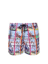 Vilebrequin Moorea Animal Selfie Swim Shorts Blue Multi