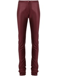 Romeo Gigli Vintage Super Skinny Trousers Red