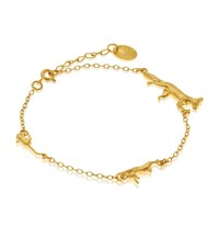 Alex Monroe Fox Rabbit And Mouse Chase Bracelet Female
