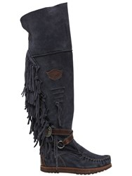 El Vaquero 70Mm Delilah Fringed Suede Wedged Boots
