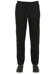 Dolce And Gabbana Cotton And Silk Blend Jogging Pants Black