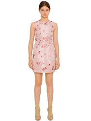 Red Valentino Floral Printed Techno Faille Dress