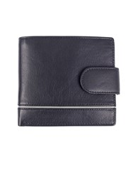 Dents Leather Rfid Protection Wallet Blue
