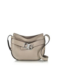 Tory Burch Gemini Link Belted French Gray Leather Small Hobo