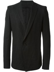 Julius Panelled Blazer Black