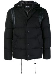 Just Cavalli Padded Button Coat Black