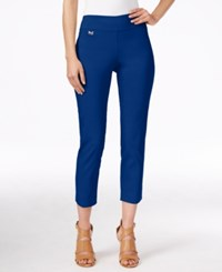 Alfani Petite Tummy Control Pull On Capri Pants Only At Macy's Modern Blue