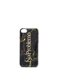 Aries No Problemo Marble Print Iphone 7 8 Case Black Multi