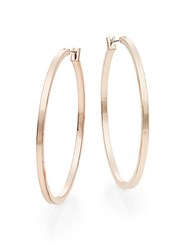 Ak Anne Klein Large Hoop Earrings Rose Gold