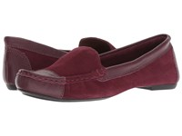 French Sole Allure2 Driver Bordeaux Suede Slip On Shoes Burgundy